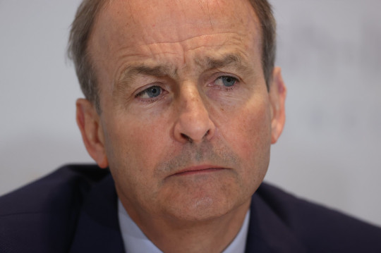 Taoiseach Micheal Martin during a press conference after the British Irish Council summit in Lough Erne Resort in Enniskillen, Co Fermanagh. Picture date: Friday June 11, 2021.