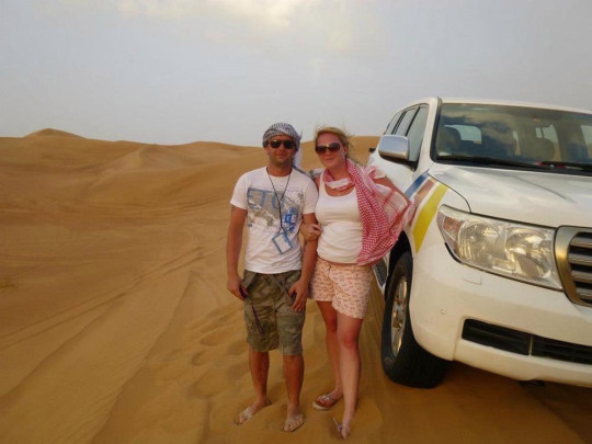 Katie and Gary on their honeymoon in Dubai in 2012 (Collect/PA Real Life).