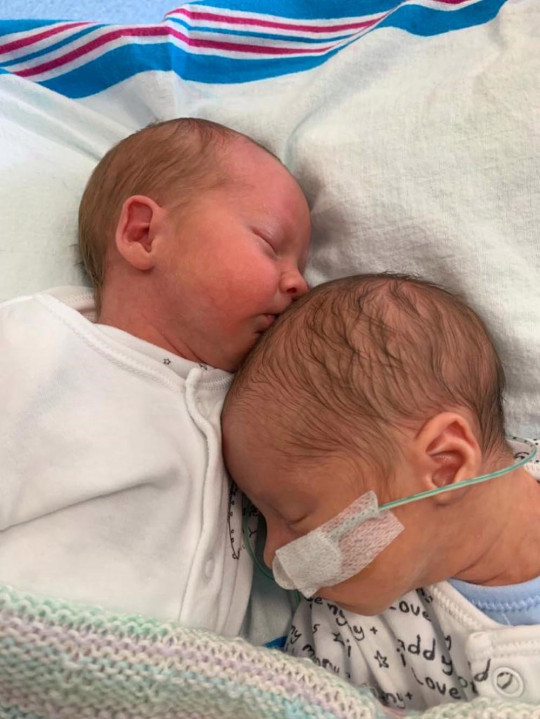 Born four weeks early the twins were rushed to NICU (Collect/PA Real Life).