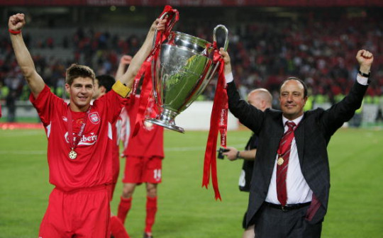 Benitez's Liverpool won the Champions League in 2005