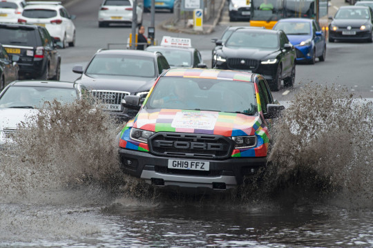 Heavy flooding to the A20 London road in Aylesford, Kent