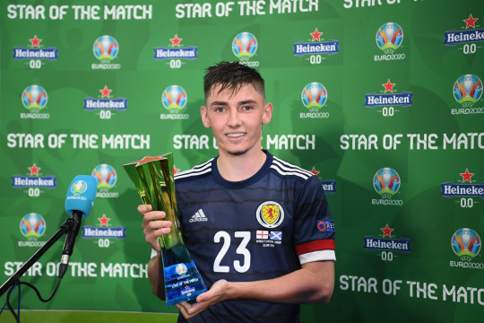Billy Gilmour was named man of the match for his display against England