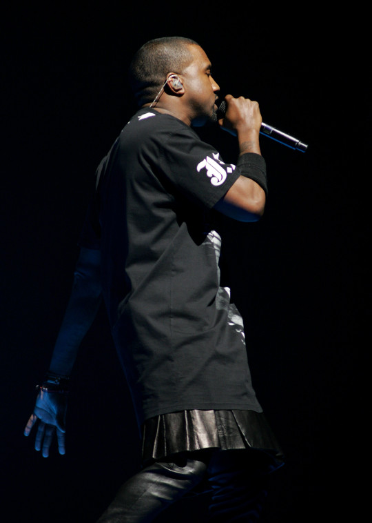 Kanye West performing on Watch The Throne tour