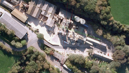 An aerial view of the wood mill. The owners of a Wood Treatment Ltd (WTL) mill, which had an explosion that killed four people in Bosley, Cheshire, will not spend any time in jail.