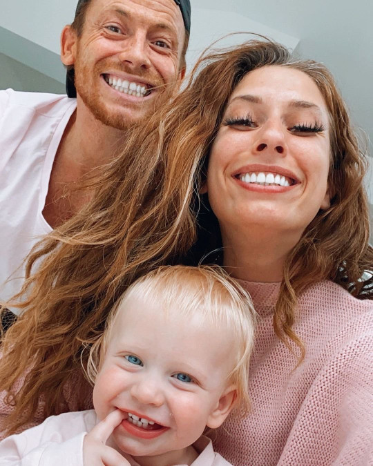 Stacey Solomon and Joe Swash's son Rex had a nasty fall
