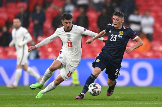 Mason Mount and Billy Gilmour do battle in England's Euro 2020 clash with Scotland