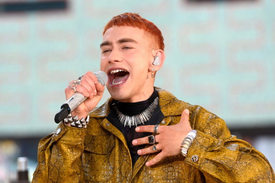 LONDON, ENGLAND - JUNE 06: **EMBARGOED UNTIL 19:00 BST, 06TH JUNE 2021** Olly Alexander performs during the Virgin Media British Academy Television Awards 2021 at Television Centre on June 06, 2021 in London, England. (Photo by Dave J Hogan/Getty Images)