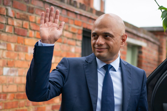 Former chancellor of the exchequer Sajid Javid, outside his home in south west London, after he was appointed as Secretary of State for Health and Social Care, following the resignation of Matt Hancock.