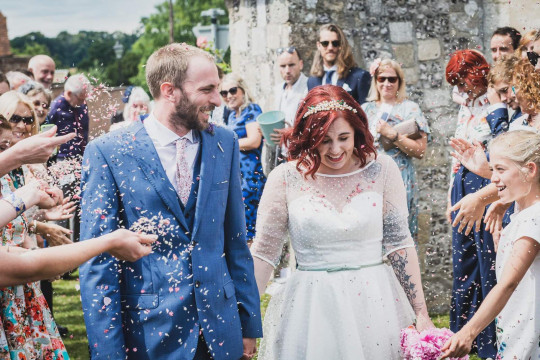 Alana with husband Nathaniel Severs on their wedding day