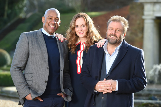 Homes Under The Hammer hosts Martel Maxwell, Martin Roberts and Dion Dublin
