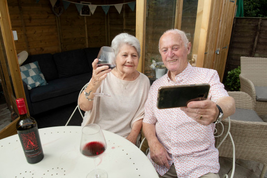 Euan Coffin, 84, and Freda Clark, 81, who tied the knot after relatives hooked them up with a dating app