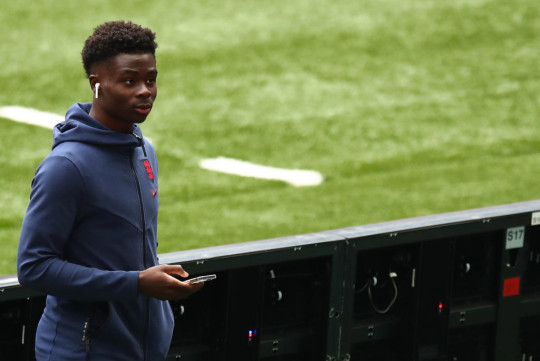 Bukayo Saka retained his place in the England team for the last 16 tie against Germany
