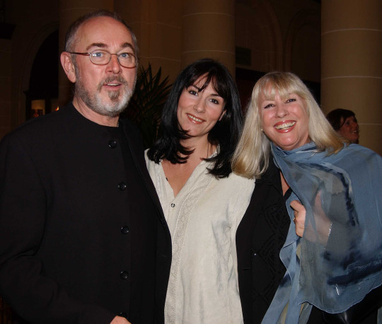 **IMAGE OUTSIDE OF SUBSCRIPTION DEAL, FEES APPLY, PLEASE CONTACT YOUR ACCOUNT MANAGER** Mandatory Credit: Photo by Alan Davidson/REX (9190911y) Peter Egan with his wife, Myra Frances and their daughter, Rebecca Egan The Secret Rapture First Night afterparty at The Langham Hilton London on 26 Nov 2003