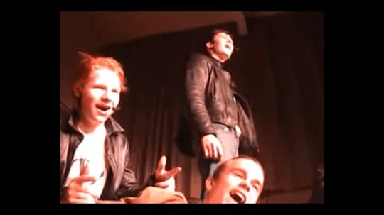 Ed Sheeran and co-stars in his school's production of Grease