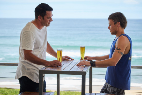 Dean and Ari in Home and Away