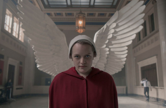 Editorial use only. No book cover usage. Mandatory Credit: Photo by Sophie Giraud/MGM/Hulu/Kobal/REX/Shutterstock (10458588t) Elisabeth Moss as June Osborne 'The Handmaid's Tale' TV Show Season 3 - 2019 Set in a dystopian future, a woman is forced to live as a concubine under a fundamentalist theocratic dictatorship.