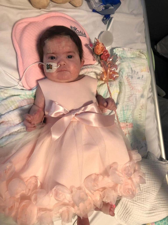 baby layla in her hospital bed