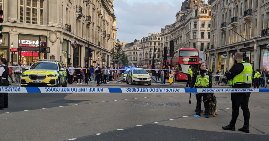 Police said it was too early to say if they believed the attack to be random