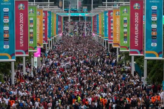 Football Fans Leave Wembley Stadium After Euro 2020 England vs Germany Match