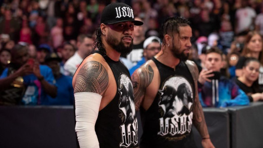 WWE superstar Jimmy Uso with his twin brother Jey