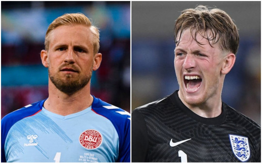 Kasper Schmeichel and Jordan Pickford are aiming to keep clean sheets at Wembley