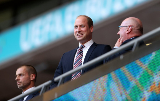 Soccer Football - Euro 2020 - Semi Final - England v Denmark - Wembley Stadium, London, Britain - July 7, 2021 Britain's Prince William in the stands before the match Pool via REUTERS/Catherine Ivill
