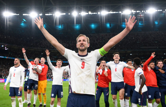 Kane was the hero for the Three Lions as they beat Denmark at Wembley