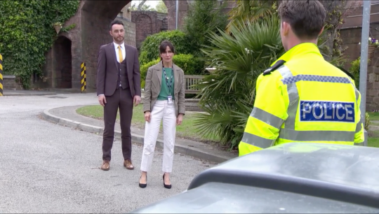 James, DS Cohen and PC Smith in Hollyoaks
