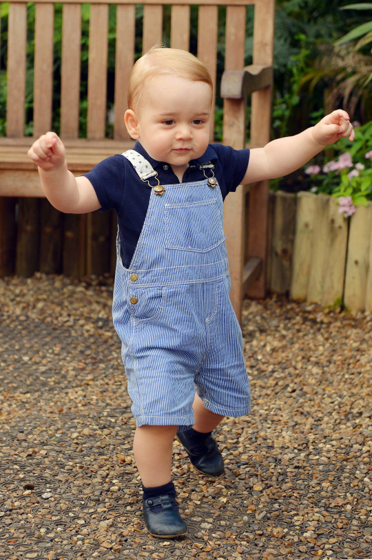 Prince George just before his first birthday