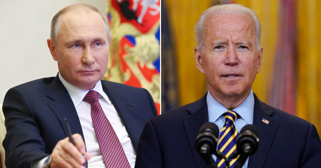 President Joe Biden (right) told Russian President Vladimir Putin (left) that Russia must 'take action' on recent ransomware attacks in the US