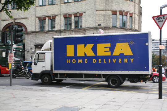 Mandatory Credit: Photo by REX/Shutterstock (607424da) Ikea Home delivery lorry / van Various