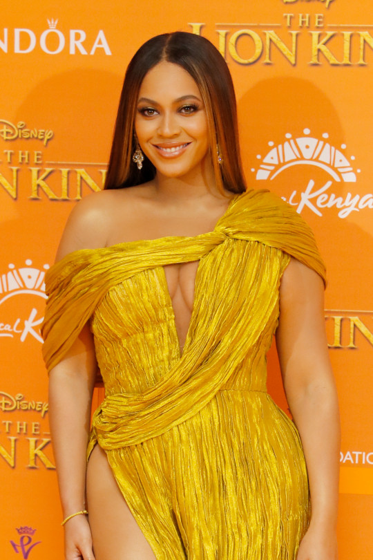 Beyonce at the The Lion King European Premiere