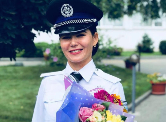 Top woman cop, Gulafroz Ebtekar, ex-deputy chief of criminal investigations in Afghanistan, hides for her life in Kabul after US and Russia refused to fly her out. In this photo pictured at the Volgograd Academy of the Ministry of Internal Affairs, Russia.