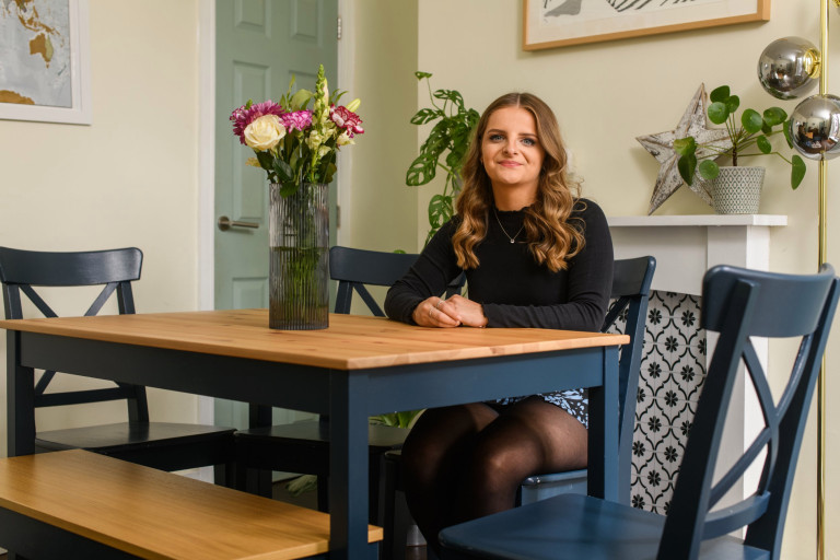 What I Rent, Hannah, £875 for a two-bedroom house in York: hannah in dining room