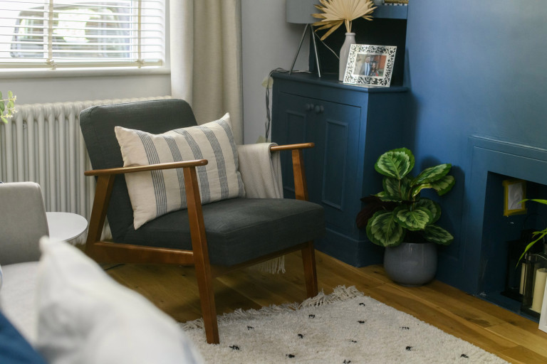 What I Rent, Hannah, £875 for a two-bedroom house in York: living room chair