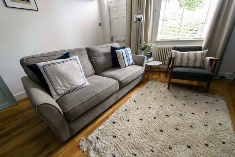 What I Rent, Hannah, £875 for a two-bedroom house in York: living room sofa