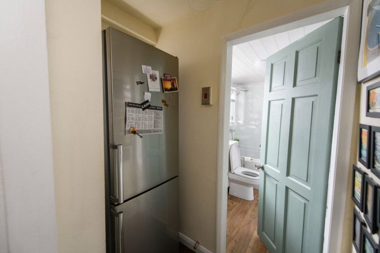 What I Rent, Hannah, £875 for a two-bedroom house in York: fridge next to door