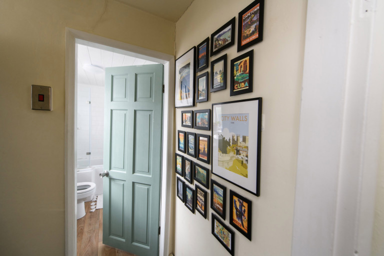 What I Rent, Hannah, £875 for a two-bedroom house in York: gallery wall