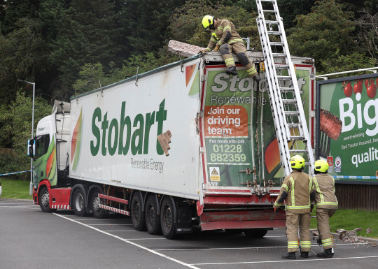 An East Kilbride house was destroyed after a lorry reportedly deliberately ploughed into a family home. Emergency crews raced to Merlin Wynd in the town after they were alerted to the collision. Locals reported online that nobody was hurt in the smash. The Lorry was later found abandoned in a Lidl car park about 3.5 miles away with parts of the building still embedded in it.
