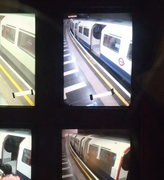 CCTV monitors displaying different camera angles from platform 3 where the accident happened  (Picture: Rail Accident Investigation Branch)