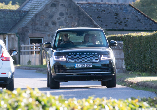 Braemar, Ballater, Scotland, Wednesday 8 September 2021 Prince Andrew drove 500 miles yesterday to join the Queen at Balmoral for the second time this year in a bid to avoid being served sex assault papers. Sarah Ferguson was spotted in the back seat of Duke?s Range Rover Picture by Michal Wachucik/Abermedia