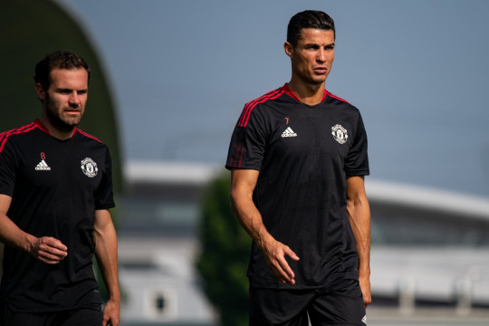 Cristiano Ronaldo took part in his first training session back at Manchester United this week