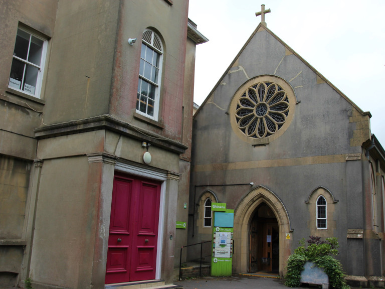 the outside of the former chapel