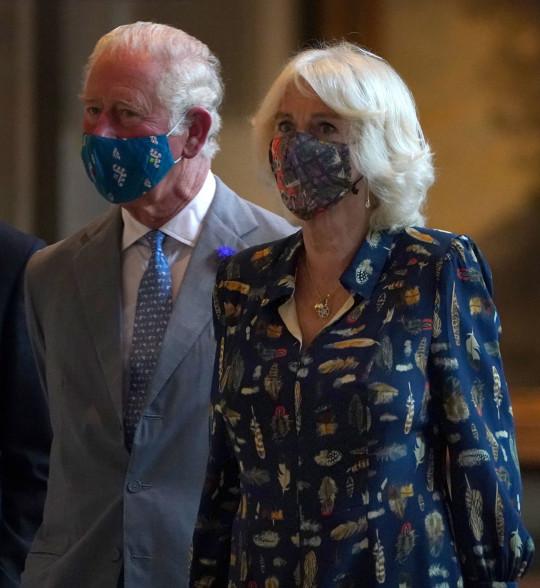 GLASGOW, SCOTLAND ??? SEPTEMBER 8: Prince Charles, Prince of Wales and Camilla, Duchess of Cornwall, known as the Duke and Duchess of Rothesay when in Scotland, visit Kelvingrove Art Gallery and Museum, to celebrate its 120th anniversary, on September 8, 2021 in Glasgow, Scotland. (Photo by Andrew Milligan-WPA Pool/Getty Images)