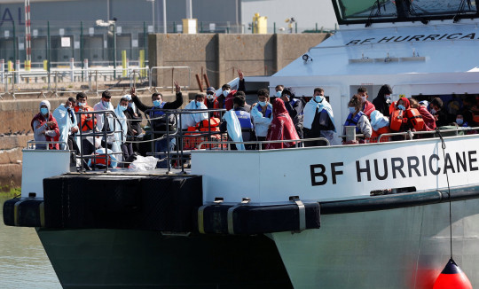 Migrants rescued from the English Channel