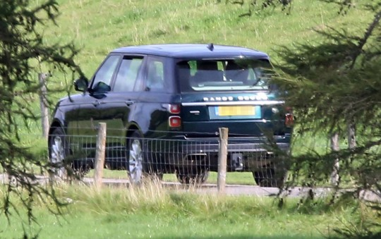Prince Andrews car being driven on the Balmoral estate at 2.45pm today (Monday 20th September 2021)....he is on the estate, pic taken from the A93 public road...pic Peter Jolly