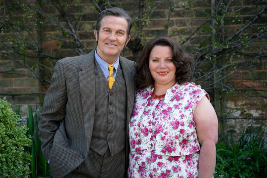 From Objective Fiction / Genial Productions The Larkins on ITV and ITV Hub Pictured: Pop Larkin [Bradley Walsh] and Ma Larkin [Joanna Scanlan]. This photograph is (C) Objective Fiction / Genial Productions and can only be reproduced for editorial purposes directly in connection with the programme or event mentioned above, or ITV plc. Once made available by ITV plc Picture Desk, this photograph can be reproduced once only up until the transmission [TX] date and no reproduction fee will be charged. Any subsequent usage may incur a fee. This photograph must not be manipulated [excluding basic cropping] in a manner which alters the visual appearance of the person photographed deemed detrimental or inappropriate by ITV plc Picture Desk. This photograph must not be syndicated to any other company, publication or website, or permanently archived, without the express written permission of ITV Picture Desk. Full Terms and conditions are available on the website www.itv.com/presscentre/itvpictures/terms For further information please contact: james.hilder@itv.com / 0207 157 3052