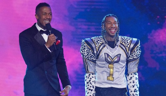 Nick Cannon and Tyga on The Masked Singer